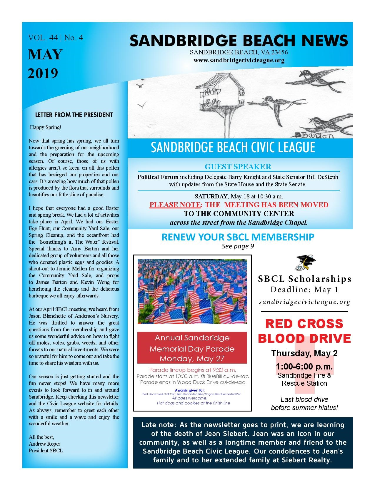 SBCL Newsletter May 2019